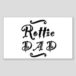 Rottie DAD Sticker (Rectangle)