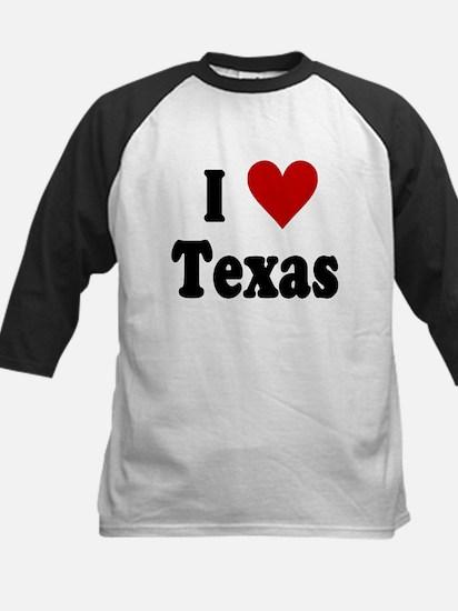I Love Texas Kids Baseball Jersey