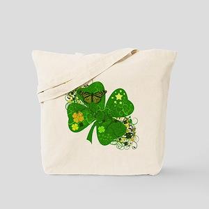 Fancy Irish 4 leaf Clover Tote Bag