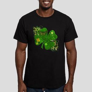 Fancy Irish 4 leaf Clover Men's Fitted T-Shirt (da