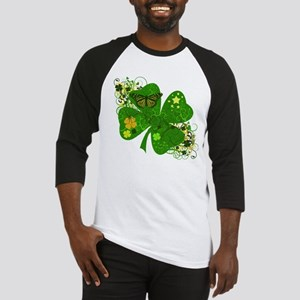 Fancy Irish 4 leaf Clover Baseball Jersey