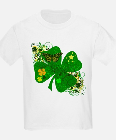 Fancy Irish 4 leaf Clover T-Shirt
