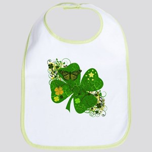 Fancy Irish 4 leaf Clover Bib