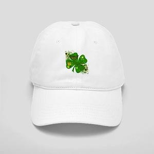 Fancy Irish 4 leaf Clover Cap