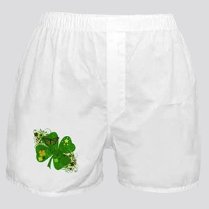 Fancy Irish 4 leaf Clover Boxer Shorts