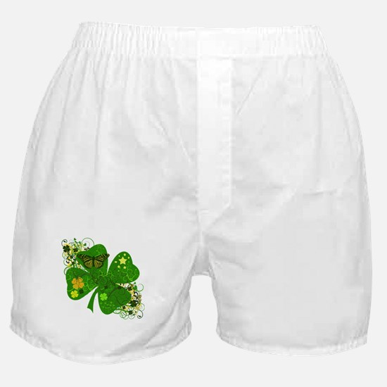 Fancy Irish 4 leaf Clover Boxer Shorts