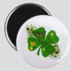 Fancy Irish 4 leaf Clover Magnet
