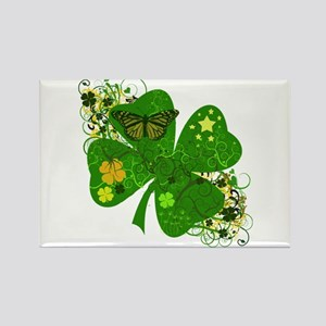 Fancy Irish 4 leaf Clover Rectangle Magnet