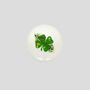 Fancy Irish 4 leaf Clover Mini Button