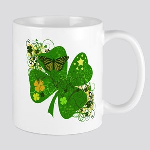 Fancy Irish 4 leaf Clover Mug
