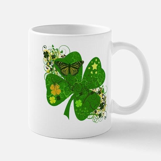 Fancy Irish 4 leaf Clover Mug