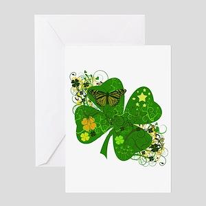 Fancy Irish 4 leaf Clover Greeting Card
