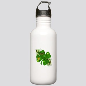 Fancy Irish 4 leaf Clover Stainless Water Bottle 1