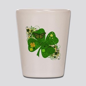 Fancy Irish 4 leaf Clover Shot Glass