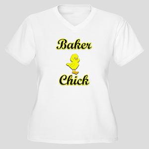 Baker Chick Women's Plus Size V-Neck T-Shirt