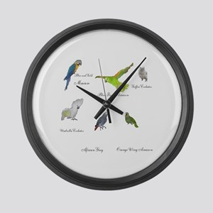 Parrot Large Wall Clock