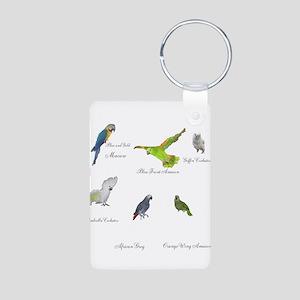 Parrot Aluminum Photo Keychain