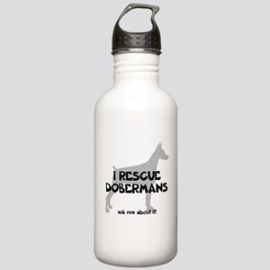 I RESCUE Dobermans Stainless Water Bottle 1.0L