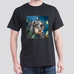 Wiredhair Doxie in Space Black T-Shirt
