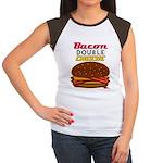 BaconDoubleCHEESE! Women's Cap Sleeve T-Shirt