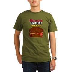 BaconDoubleCHEESE! Organic Men's T-Shirt (dark)