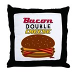 BaconDoubleCHEESE! Throw Pillow