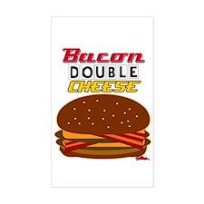 BaconDoubleCHEESE! Sticker (Rectangle)