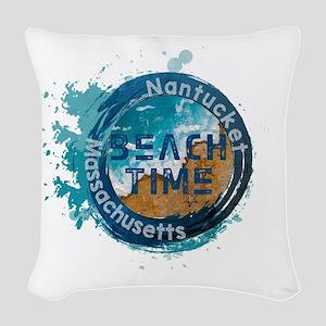 Massachusetts - Nantucket Woven Throw Pillow