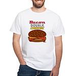 BaconDoubleCHEESE! White T-Shirt
