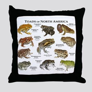 Toads of North America Throw Pillow