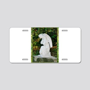 Angel! tranquil prayer, photo Aluminum License Pla