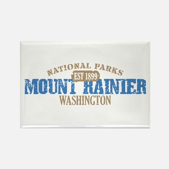 Mount Rainier National Park W Rectangle Magnet