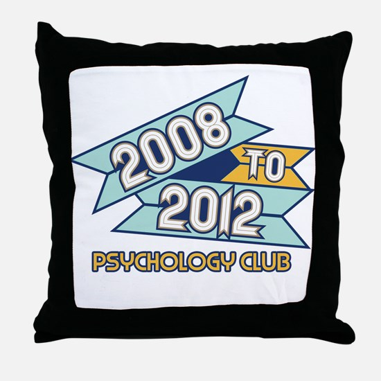 08 to 12 Psychology Club Throw Pillow