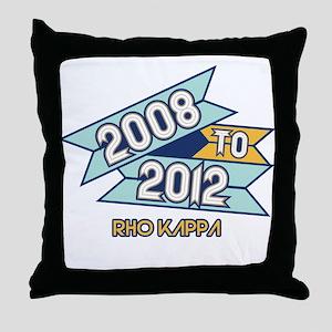 08 to 12 Rho Kappa Throw Pillow