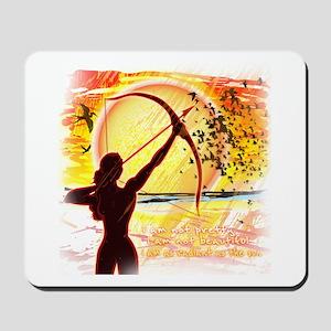 Katniss Radiant as the Sun Mousepad