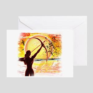Katniss Radiant as the Sun Greeting Card