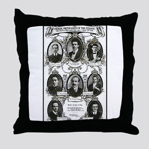 The Courageous Titanic Band Throw Pillow