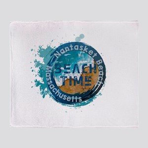 Massachusetts - Nantasket Beach Throw Blanket