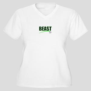 BEAST SOCCER Women's Plus Size V-Neck T-Shirt