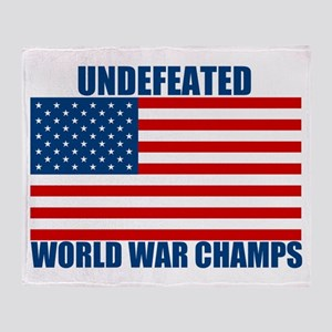 Undefeated World War Champs Throw Blanket