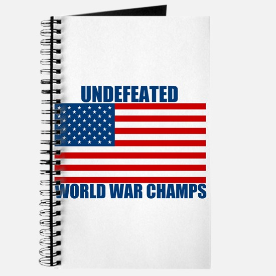 Undefeated World War Champs Journal
