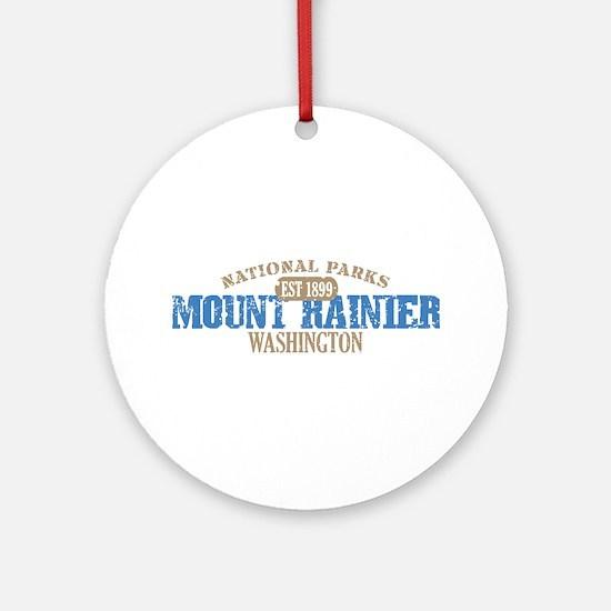 Mount Rainier National Park W Ornament (Round)