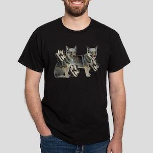 swedish valhund and Paw Print Dark T-Shirt