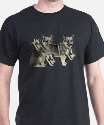 swedish valhund and Paw Print T-Shirt
