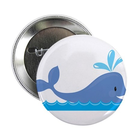 """Whale 2.25"""" Button (10 pack)"""