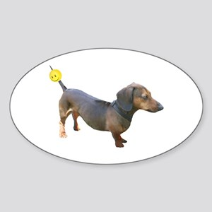 Chewy Antenna Ball Dachshund Oval Sticker