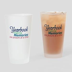 Yearbook Making Memories Drinking Glass