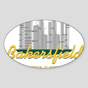 Bakersfield Stinks Sticker (Oval)