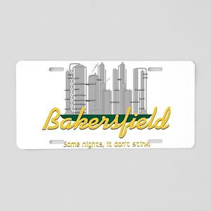 Bakersfield Stinks Aluminum License Plate
