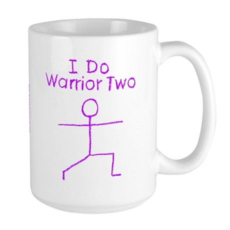 Purple Warrior Two Large Mug